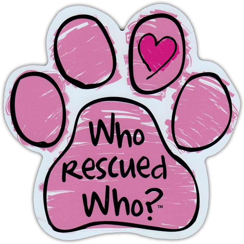 Pink Scribble Dog Paw Shaped Car Nashville-Davidson Mall Rescued Who Max 48% OFF Magnet Who? Mag -