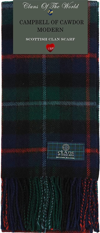 Campbell of Cawdor Modern Tartan Clan Scarf 100% Soft Lambswool