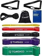 TOMSHOO Resistance Loop Bands, 5 STKS Latex Huidvriendelijke Pull Up Assist Bands Set voor CrossFit, Stretch, Powerliftin...