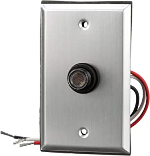 Woods 59409WD Outdoor Hardwired Post Eye Light Control and Wall Plate, Metallic Finish