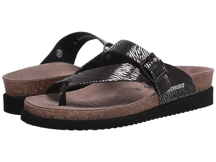 Mephisto  Helen (Black Zebra) Womens Sandals