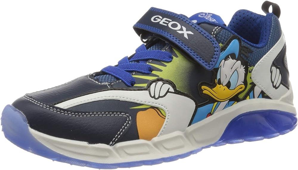 Geox j spaziale boy b, scarpe da ginnastica bambino - ragazzo,in pelle sintetica e tessuto J04CQB054CE