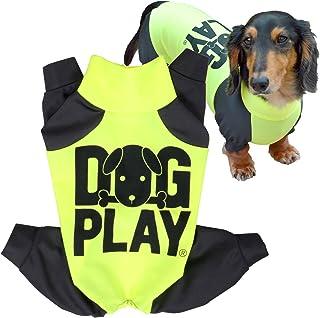 犬猫の服 full of vigor ドッグプレイ(R)Fプリントラッシュガード ダックス用 カラー 8 イエロー サイズ DLラッシュガード オールインワン フルオブビガー