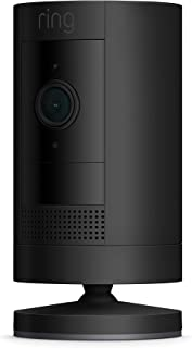Ring Stick Up Cam Battery | HD security camera with Two-Way Talk, black, Works with Alexa