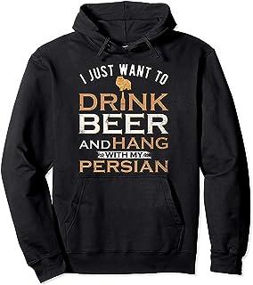 CCANE7 Men's Sudadera con Capucha Personalizada I Just Want to Drink Beer Divertido gráfico Sudadera con Capucha