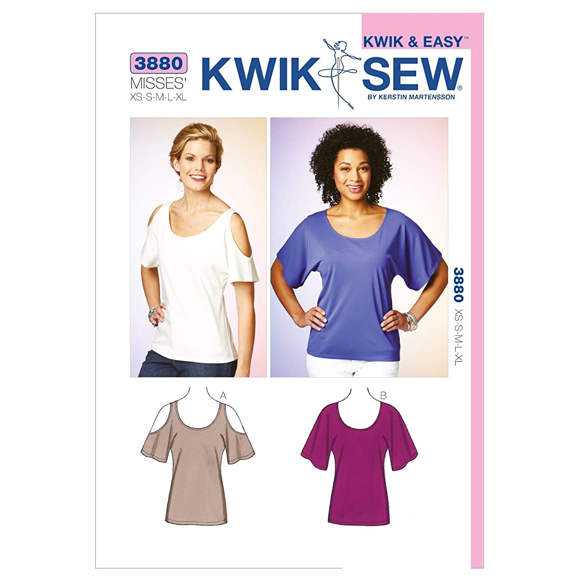 Kwik Sew K3880 Tops Sewing Pattern, Size XS-S-M-L-XL
