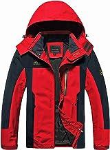 MAGCOMSEN Men`s Hooded Windproof Water Resistant Rain Jacket Windbreaker 5 Pockets for Hiking,Fishing,Runing
