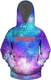3D Print Nebula Hooded Sweatshirt for Kids Wool Warm Long Sleeve Childrens Unisex Pullover Hoodie