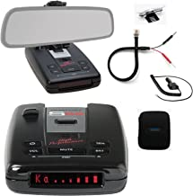 Escort Passport S55 Pro Radar and Laser Detector with DSP (High-Intensity Red Display) and Complete Mirror Mount Kit