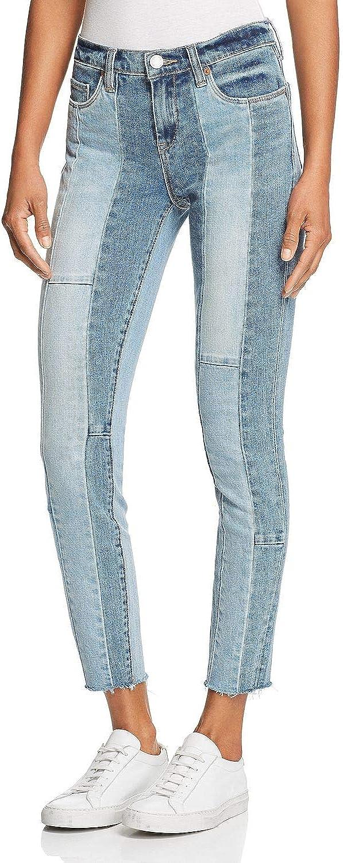 [BLANKNYC] Womens Patchwork Croped Skinny Jeans
