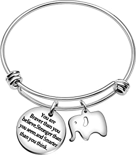 Best Friend Bangle Bracelets You're Braver Stronger Smarter Than You Think