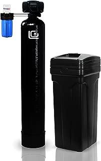 LiquaGen - Whole House Digital Metered On Demand Water Softener System + 10% Cross Link Resin & Metal Bypass (Premium 48K Grains + 10