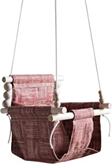 Indoor/Outdoor boho nursery decor, rust color, baby toddler fabric swing