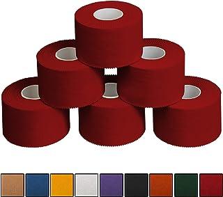 ALPIDEX 6Vendajes Deportivos de 3,8cm x 10m, Color: Rojo