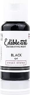 Sweet Sticks Edible Art Decorative Cake Paint 0.5 Ounce (15 Milliliters), Black