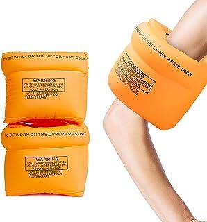 Aotlet - Manguitos de natación para niños, para principiantes, con brazo de 13,5 – 20 cm, pulseras hinchables, peso recomendado: 6 – 30 kg, para niños pequeños y bebés de 1 – 6 años, color naranja