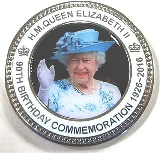 HM Queen Elizabeth II Ninetieth 90th Birthday Commemorative Coin Medal In Presentation Box / Case