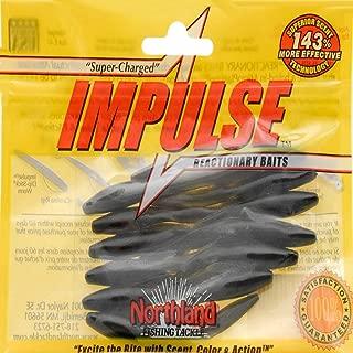 Northland Tackle Impulse Jig Leech Bait, Black, 3-1/2-Inch