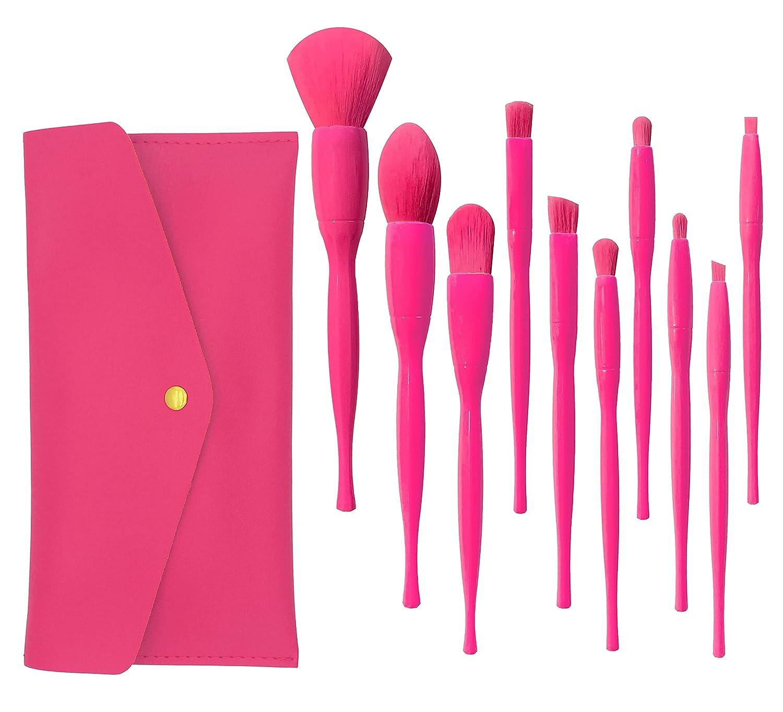 Mocuarto 10 PCs 5 popular New color Professional Makeup Brush Set Premium Synthetic