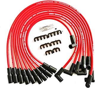 A-Team Performance Silicone Spark Plug Wires SBC Compatible with Chevy GMC Truck SUV Vortec 5.0L 5.7L 5700 350 1996-2003 Red 8.0mm