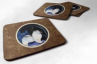 "Caroline's Treasures SS8380FC Starry Night Keeshond Foam Coasters Set of 4 (Set of 4), 3.5"" H x 3.5"" W, Multicolor"