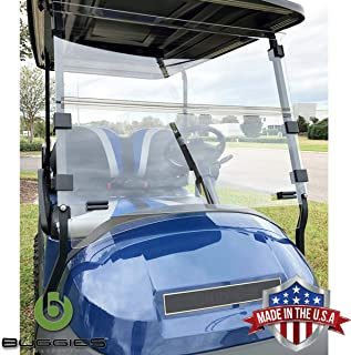 Buggies Unlimited Club Car Precedent (04-Up)/ Onward (17-Up)/ Tempo (18-Up) Folding Golf Cart Clear Windshield with Quick Disconnect Mounting System