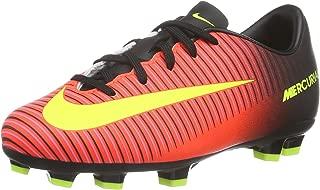Nike Jr. Mercurial Vapor XI FG Soccer Cleat (3.5Y) Total Crimson, Black