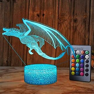 XEUYUTR Dragon Lighting Decor Cute Dragon Night Light Dormitorio Lámpara de mesa Decoración de fiesta Lámparas Navidad Regalo de cumpleaños Regalos para niños Edad 5 4 3 1 6 2 7 8 9 10 11