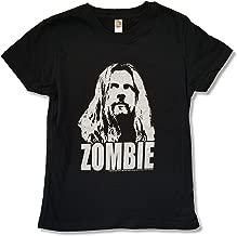 Rob Zombie Foil Negative Image Girls Juniors Black T Shirt