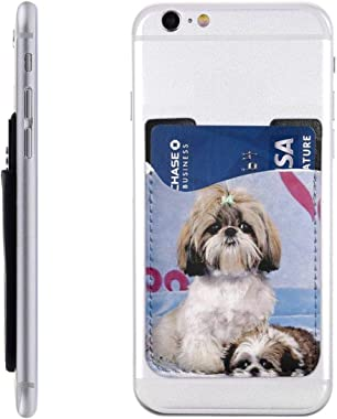 Shih Tzu PU Leather Business Id Card Package RFID Credit Card Holder Clip Sleeve Wallet for Vehicle Car Luggage Door iPhone S
