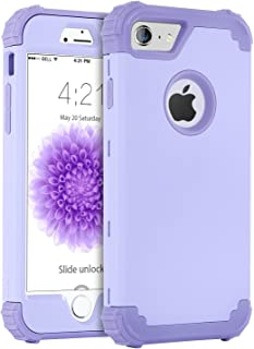 iPhone 6S Case, iPhone 6 Case, BENTOBEN 3 in 1 Slim Hybrid Hard PC Soft Silicone Rugged Rubber Bumper Heavy Duty Shockproof Full Body Protective Phone Cases Cover for iPhone 6/6S (4.7 inch) Purple