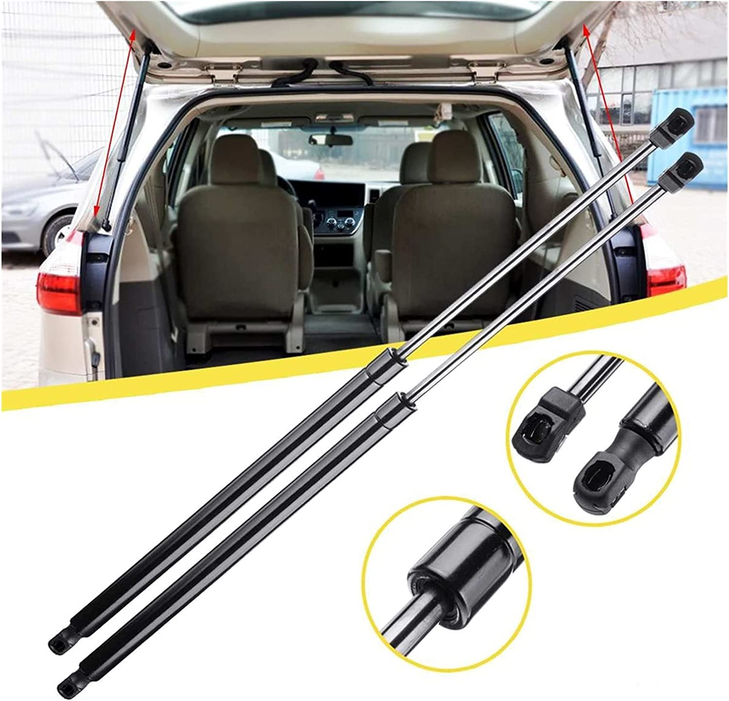 WRDD Lift Support Struts Durable 2 Gas Pcs Direct sale of Dealing full price reduction manufacturer L Car Tailgate