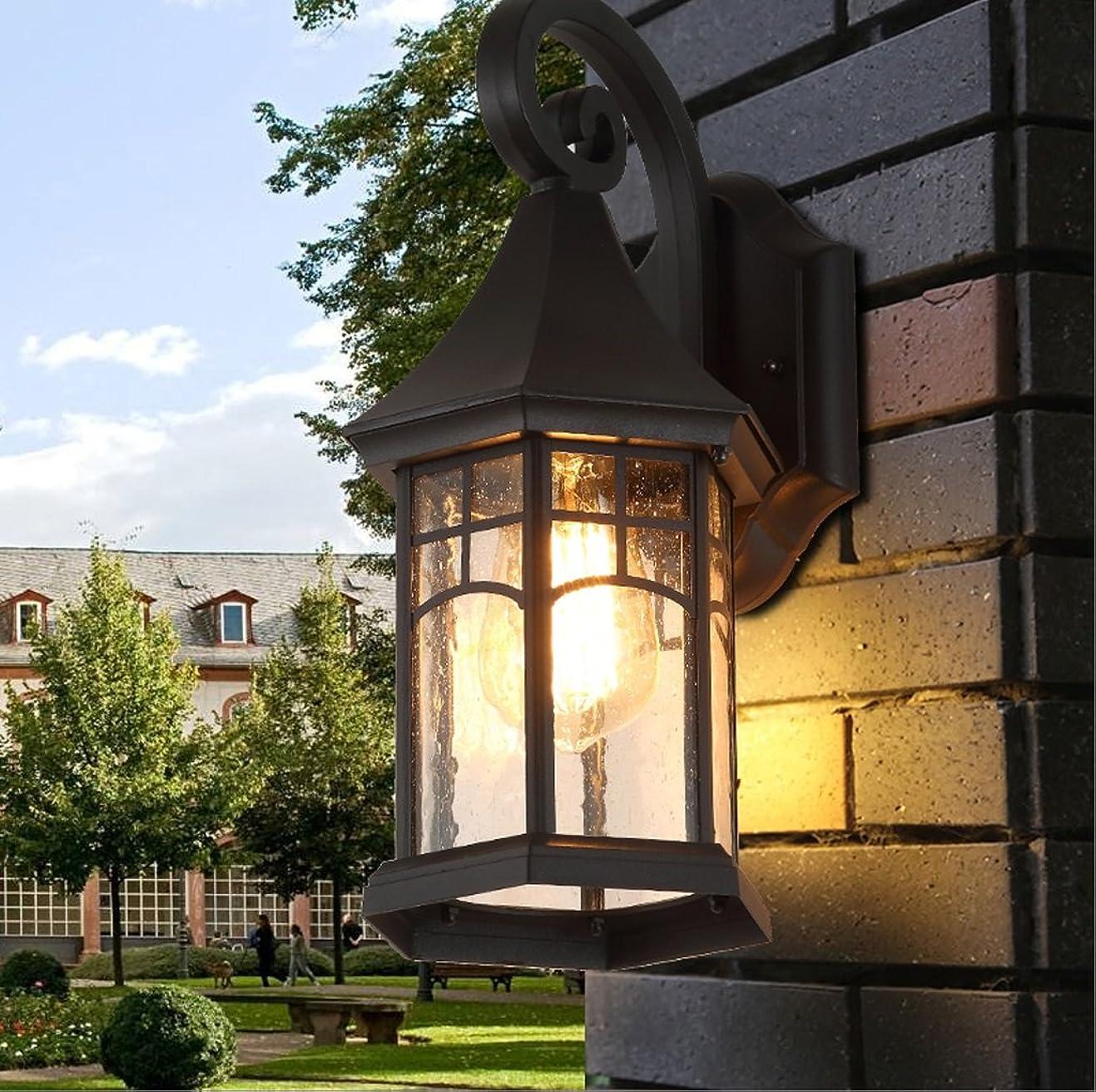 左戦術マリナー屋外アイアンアートウォールライトクリエイティブレトロ防水ドアガーデンライトロビー屋外テラス装飾的な壁ライトE27光源