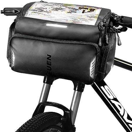 ZhaoCo Sacoche de Guidon V/élo VTT ou Scooters Multifonctionnel Amovible Sac de V/élo de Cyclisme avec Housse de Pluie pour V/élos
