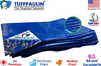 TUFFPAULIN (30X18,Blue)  Extreme Duty Tarpaulin Waterproof UV Treated Virgin Extra Strong Premium Quality IS14611:2016 Approved 400 Microns