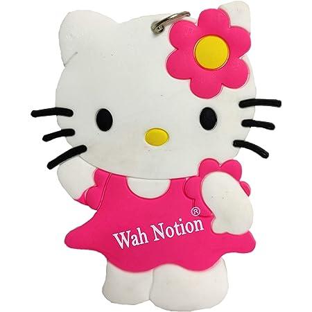 WAH NOTION® Smiley Key Chains for Girls Kitty Stylish Scooty PVC Key Ring Smileys Kids Birthday Party, Return Gift, Laptop, Bag Pink2021