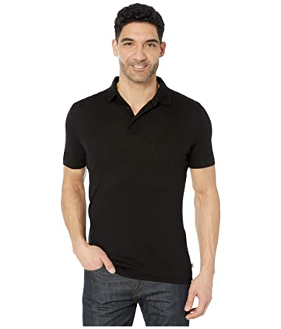 Helly Hansen Merino Light Short Sleeve Polo (Black) Men