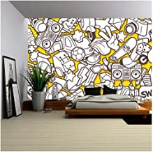 cartoon mural wallpaper