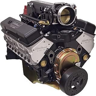 Edelbrock 46903 Performer RPM E-Tech Pro-Flo XT EFI Crate Engine 9.5:1 Compression 442 HP/409 Torque Incl. E-Tec 170 Cylinder Heads PN[60975] w/o Water  Pump Black Performer RPM E-Tech Pro-Flo XT EFI Crate Engine