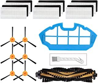 Mochenli Replacement Parts Accessories for Ecovacs DEEBOT N79 N79s Robotic Vacuum Cleanr,6 Side Brushes,6 Filter,1 Main Br...
