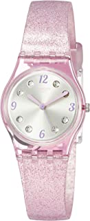Swatch Womens Analogue Quartz Watch with Silicone Strap LP132C