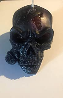Bleeding Brain Skull Candle with Rose black voodoo love scent