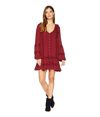 Free People Snow Angel Mini Dress (Wine) Women