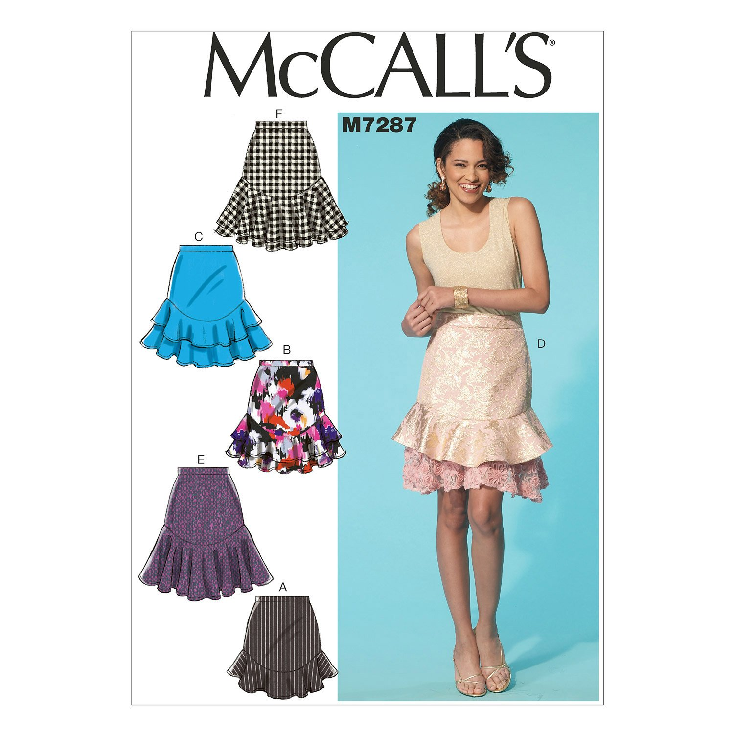 McCall's Patterns M7287 Misses' Skirts, Size A5 (6-8-10-12-14)