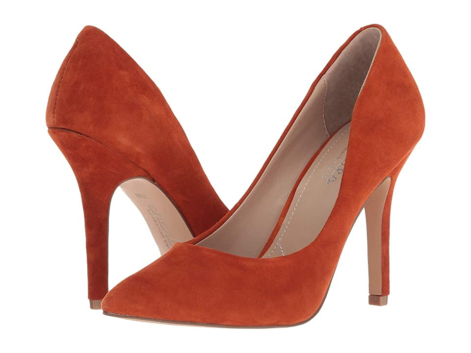 Charles by Charles David Maxx (Burnt Orange Suede) High Heels