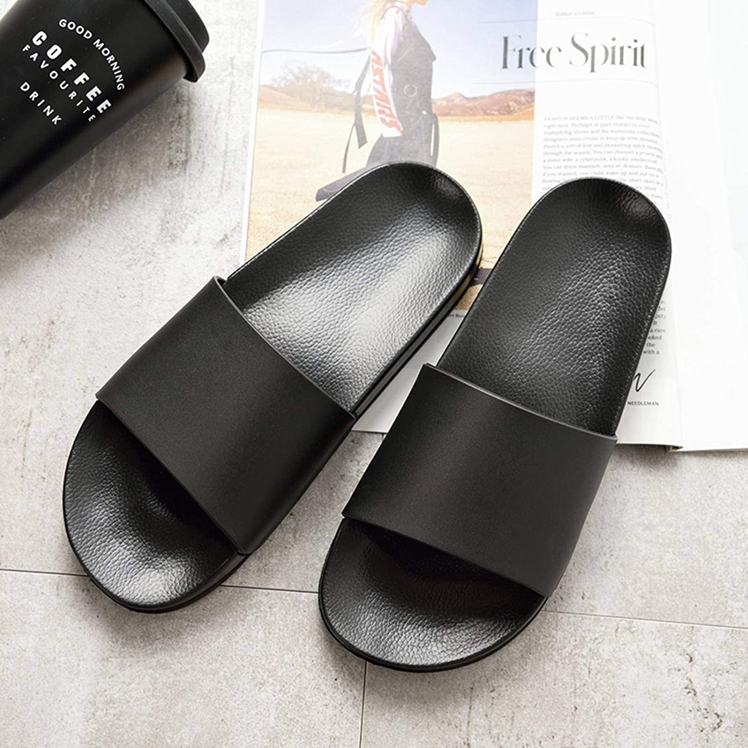 N\C QTH Summer half Home Men's Slippers and Black Simple Couple outlet White