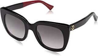 Gucci GG 0163 S- 003 Black/Grey Sunglasses
