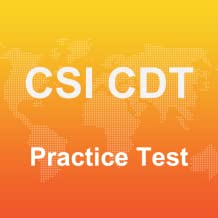 CSI CDT Practice Test 2017