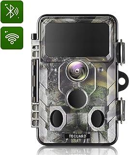 TOGUARD - Cámara de caza WiFi 20MP 1296P con ángulo de monitoreo de 120° con visión nocturna por infrarrojos activada por movimiento, resistente al agua