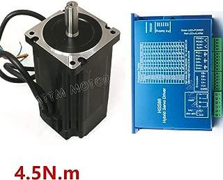 Nema34 4.5N.m Closed Loop Servo Motor Stepper motor 82mm 6A 2 Phase & HSS86 Hybrid Servo Driver Controller CNC Kit for CNC Router Engraving Milling Machine